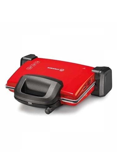 Korkmaz A313-04 Kompakto Maxı Tost Mak. Kırmızı/Siyah - Gri Granit Renkli